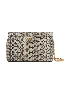 Small Ophidia Python Shoulder Bag by Gucci