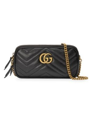 Gg Marmont Leather Crossbody Bag by Gucci