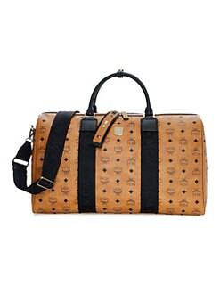 MCM. Weekender Visetos Coated Canvas Traveler Duffel Bag