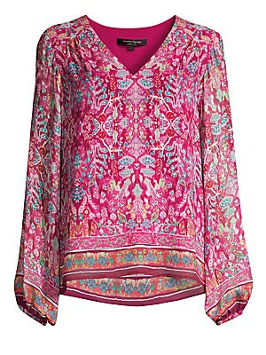 12816b9402616c Nanette Lepore - Floral Saloon Top - saks.com