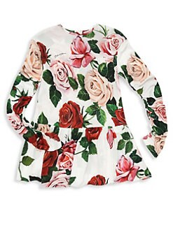 9cd27ac21c51 Dolce & Gabbana - Little Girl's & Girl's Long-Sleeve Floral A-Line Dress