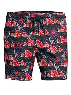 d6d016fd72 Vilebrequin. Mahina Seashell & Fish Print Swim Trunks