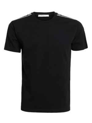 Givenchy Cottons Shoulder-Tape Logo T-Shirt
