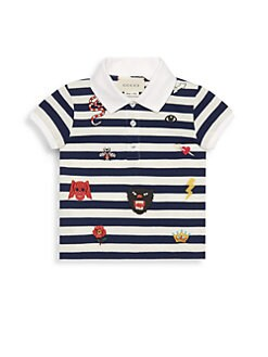 a10e49f1 Product image. QUICK VIEW. Gucci. Baby Boy's Short-Sleeve Stripe Embroidered  Polo. $265.00 · Little Boy's & Boy's Collared Polo Shirt IVORY