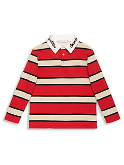 5dce1600c748 Product image. QUICK VIEW. Gucci. Boy s Stripe Long-Sleeve Polo