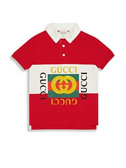 d9251357ed4 QUICK VIEW. Gucci. Boy s Printed Heavy Jersey Short-Sleeve Polo