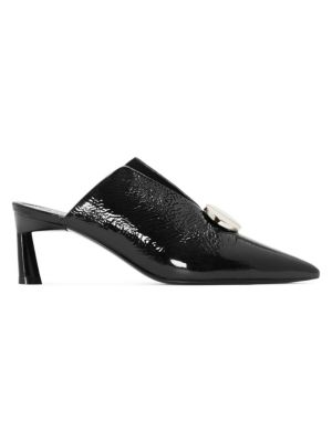 "Ainsley Patent Leather Mules/2.5"" by Mercedes Castillo"