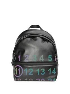 QUICK VIEW. Maison Margiela. Leather Logo Backpack 3dc6e02ecacae