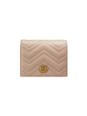 Gg Marmont 2.0 Leather Card Case by Gucci