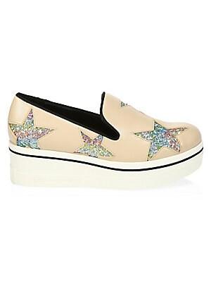 d691eca8a83 Stella McCartney - Binx Rainbow Glitter Star Platform Sneakers