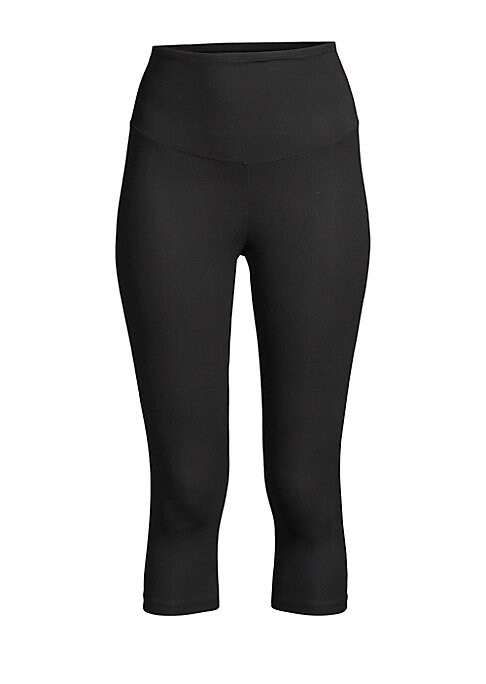 """Image of .A wardrobe staple to reach for that flattens the tummy, hips and legs. Elasticized waist. Inseam, about 17"""". .Cotton/spandex. .Machine wash. .Imported. ."""