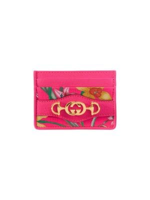 Trapuntata Floral Card Case by Gucci