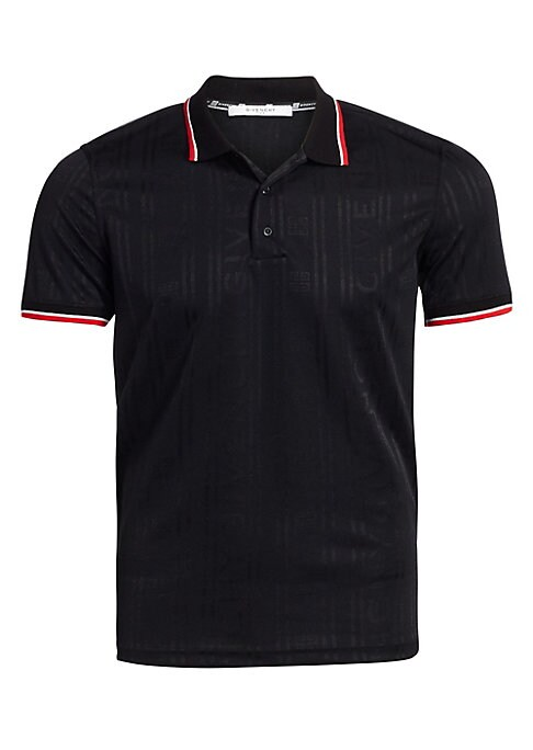 "Image of Tonal stripes highlight this classic cotton polo shirt. Spread collar. Short sleeves. Three button-front. Pullover style. Cotton. Dry clean. Made in Italy. SIZE & FIT. Classic fit. About 28"" from shoulder to hem."