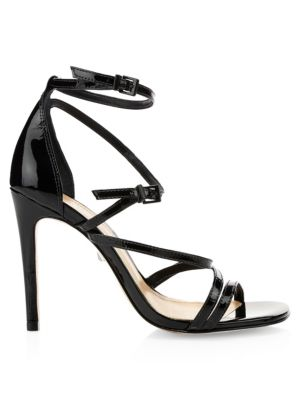 Licah Strappy Patent Leather Stiletto Sandals by Schutz