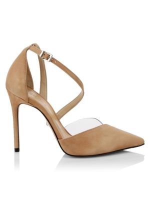 Nissy Ankle Strap Suede D'orsay Pumps by Schutz
