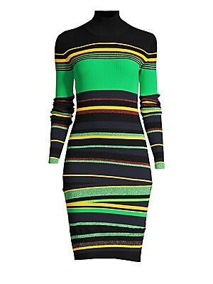 Finn Stripe Rib Knit Bodycon Dress by Diane Von Furstenberg