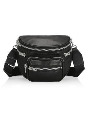 Attica Soft Leather Convertible Fanny Pack in Black