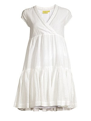 368c311de1 Roller Rabbit - Dobby Check Empire Waist Tiered Ruffle Trapeze Dress -  saks.com
