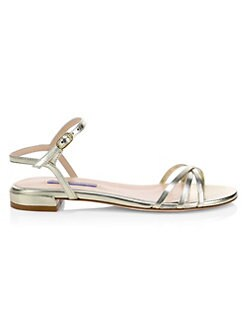 3273c697882 Stuart Weitzman. Starla Flat Leather Sandals