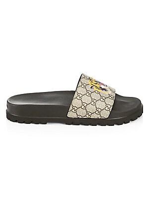 1db51e858c34 Gucci - Pursuit Treck Tiger Slide Sandals - saks.com