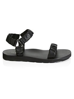 6f1abd03b Egon Leather Flat Sandals BLACK. QUICK VIEW. Product image. QUICK VIEW. The  Row