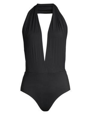 Wolford Honey Breeze Jersey Plunging Bodysuit