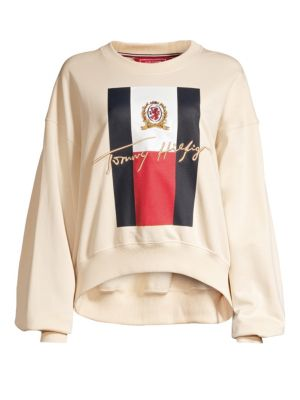 Oversized Sleeve College Sweater in Navajo