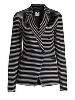 a044d4b11fa5 Lafayette 148 New York. Devin Asymmetric Striped Jacket