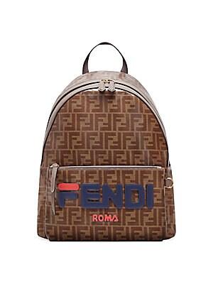 d2fdb0617551 Fendi - Fendi Mania Printed Coated Canvas Backpack
