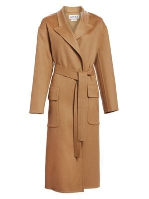 Wool & Cashmere Botanical Belted Coat by Loewe