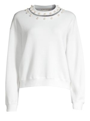 Gleeson Embellished Wool Sweater by Alice + Olivia