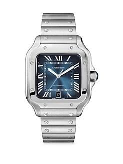 8b32e6b6ff Santos De Cartier Bracelet Watch SILVER. QUICK VIEW. Product image