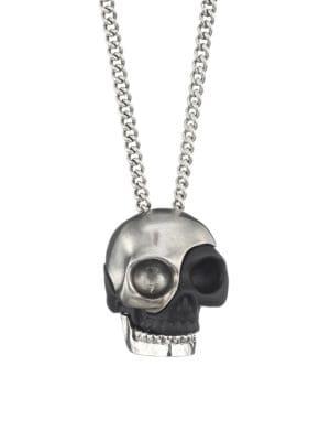 e2bc60b4 Alexander McQueen Silvertone Divided Skull Pendant Necklace