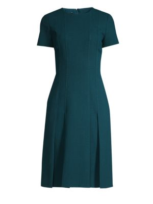 Jannie Pleated Hem Sheath Dress by Lafayette 148 New York