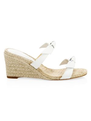 Clarita Braided Espadrille Wedge Mules by Alexandre Birman
