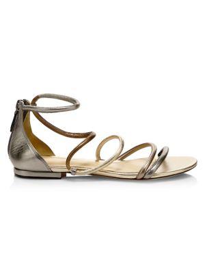 Gianny Metallic Stiletto Sandals by Alexandre Birman