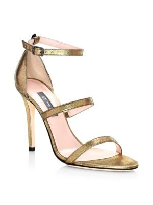 SJP BY SARAH JESSICA PARKER Halo Strappy Stiletto Heels in Gold