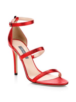 SJP BY SARAH JESSICA PARKER Halo Strappy Stiletto Heels in Red