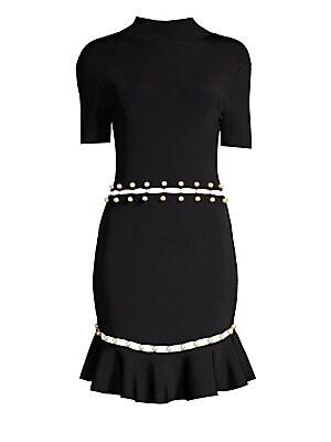 Alice Olivia Brenda Shawl Collar Dress Saks