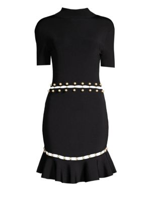 Evelyn Faux Pearl Fit & Flare Dress by Alice + Olivia