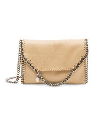 Stella Mccartney Big Falabella Crossbody Bag In Clotted Cream