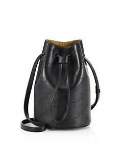 4ff3f7fc2fad Product image. QUICK VIEW. Stella McCartney. Mini Perforated Logo Bucket Bag