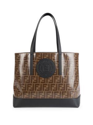 Fendi Ff Shopping Tote In Brown  596bff051c99f
