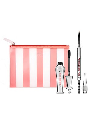 Image of $48 VALUE WHAT IT IS Brow pencil and setting gel value set for natural-looking eyebrows with two full-sized bestsellers. Always in: natural brows! Get natural-looking, feathered brows in seconds! This duo of Benefit bestsellers includes two full-size brow
