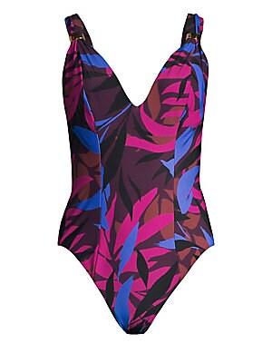 Amoressa by Miraclesuit - Eclipse Ursa V-neck One-Piece Swimsuit ... 931012de2