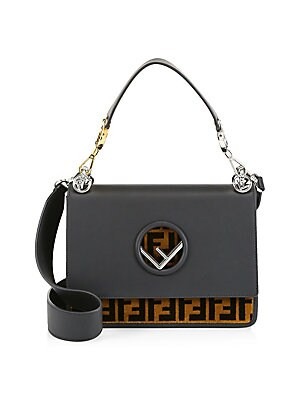 74bdcd6175f9 Fendi - Kan I Logo Leather Shoulder Bag - saks.com