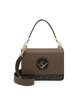 dacd2795cd72 Fendi - FF Kan I Leather Top Handle Shoulder Bag - saks.com