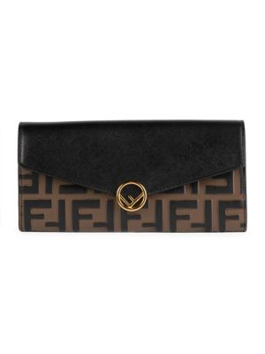 Ff Continental Leather Wallet by Fendi