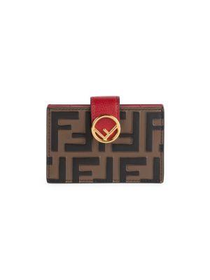 Ff Tri Tone Leather Card Case by Fendi