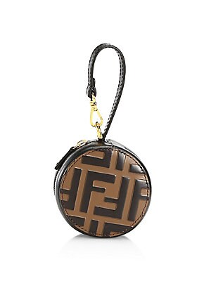 Tamburo Pocket Leather Charm by Fendi